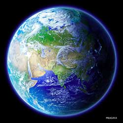 blauwe aarde