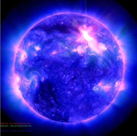 De grootste zonnestorm sinds 2005