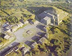 Maya stad Teotihucan.