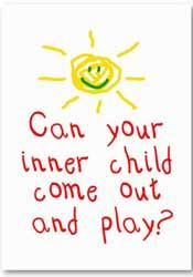 innerlijke kind speelt