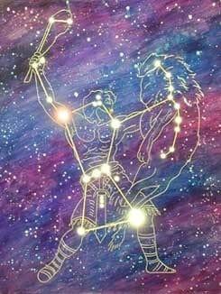 Orion-sterrenbeeld-Leeuw