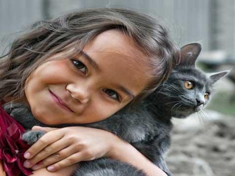 Kind-kat-liefde
