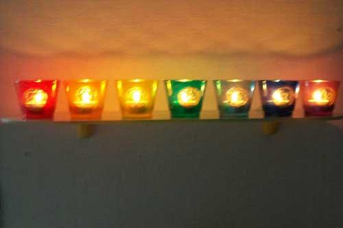 7 lichtjes op een rij