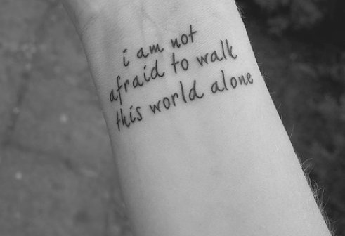afraid-alone-hand-tattoo