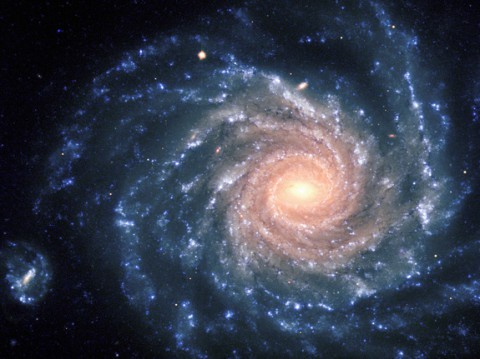 the large spiral galaxy NGC