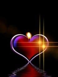 Afbeelding: Vurig hart (brandend)
