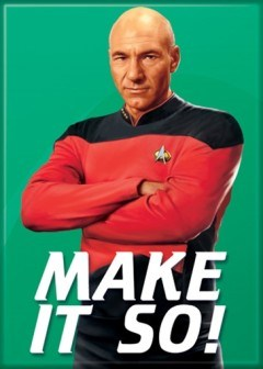 Star Trek The Next Generation Make It So Captain Picard