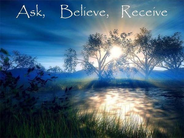 vraag, geloof, ontvang