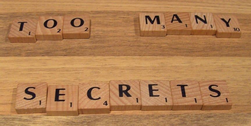 Geen geheimen meer