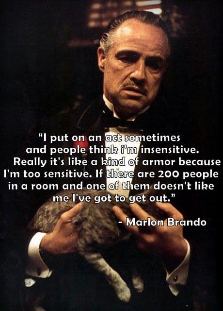 Sensitieve Marlon Brando