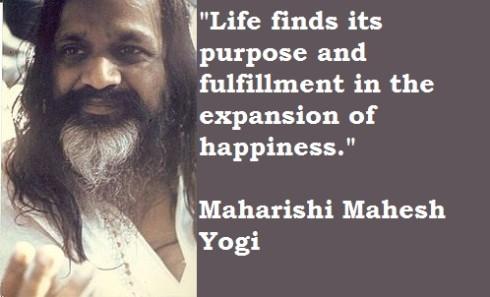 Maharishi Mahesh Yogi en het zijn