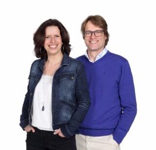 Marieke Kamp en Mark van Riel van de Academie voor Holistisch Coachen.