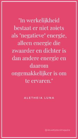 'negatieve' energie
