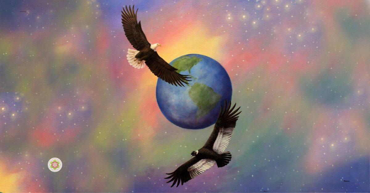 de reünie van de condor en de adelaar